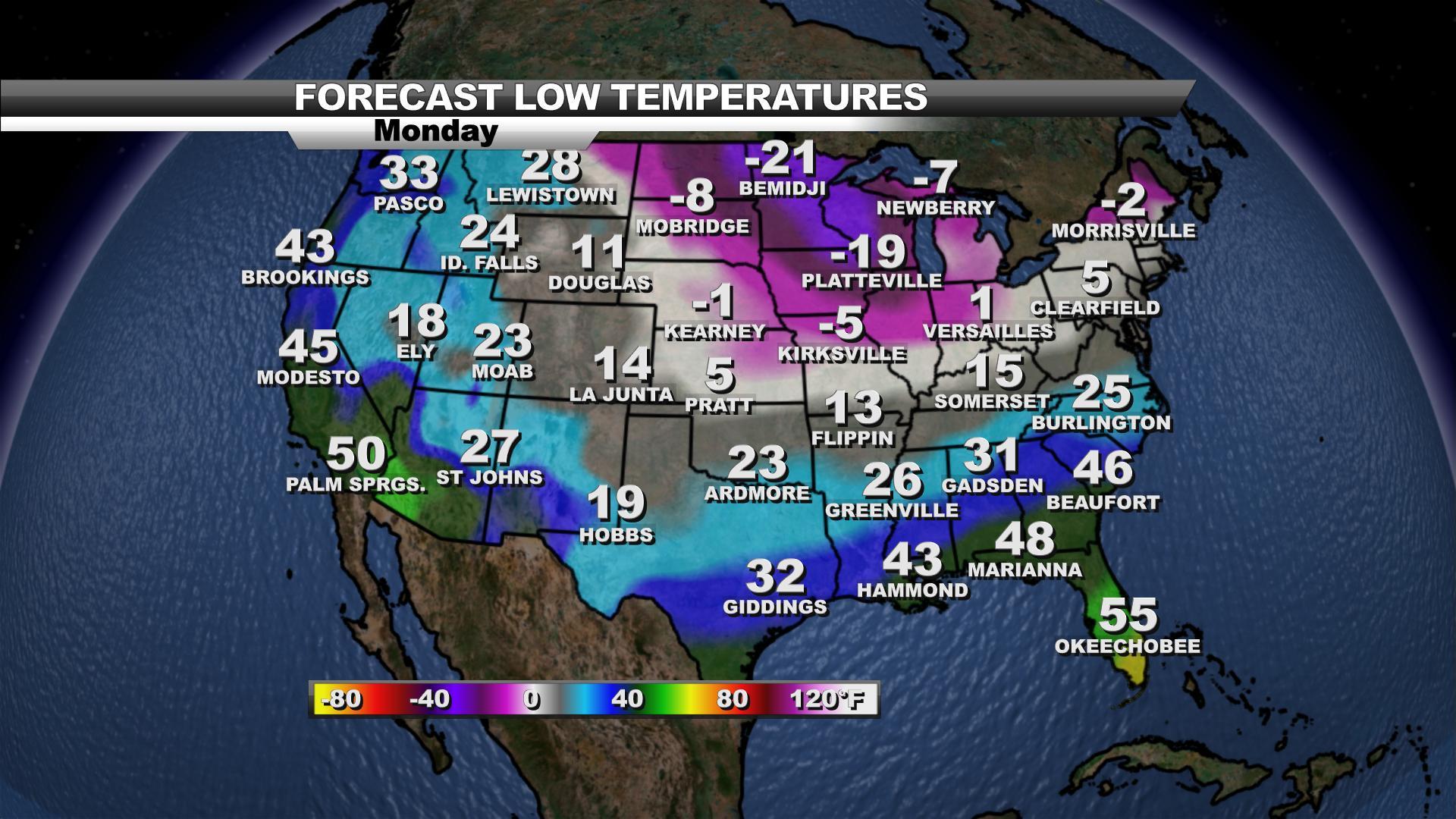 US Current Temperatures